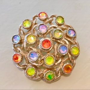 SARAH COVENTRY Colorful Luster PIN / BROOCH